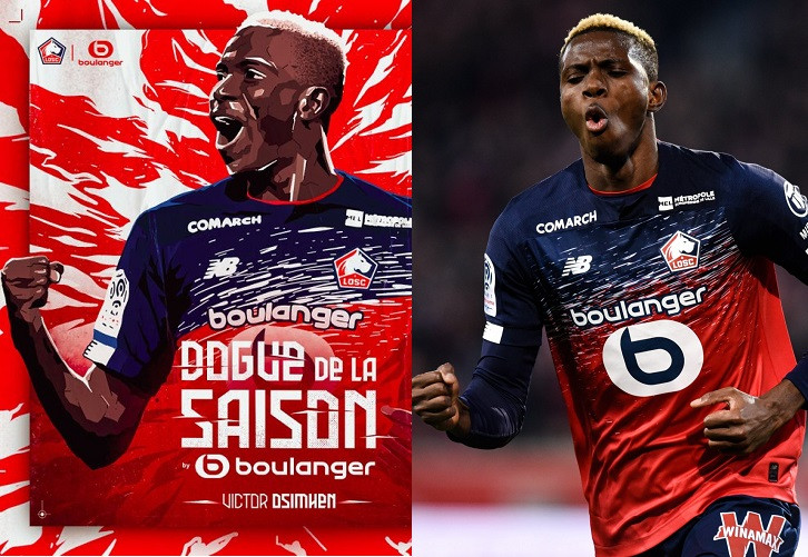 Super Eagles Striker, Victor Osimhen Is Lille's Player Of The Season