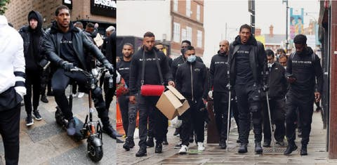 Anthony Joshua Steps Out For Black Lives Matter Protest, Seen On Mobility Scooter And Crutches (Video)