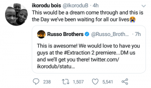 """Makers of """"Extraction"""" invite Ikorodu Bois"""