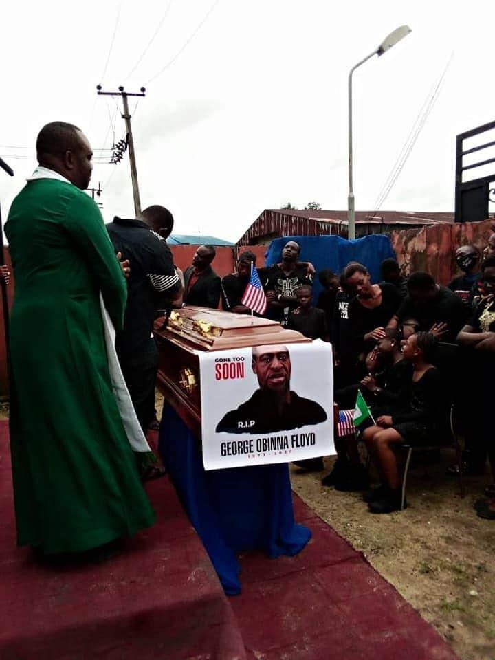 George Floyd Buried Again In Imo (Photos)