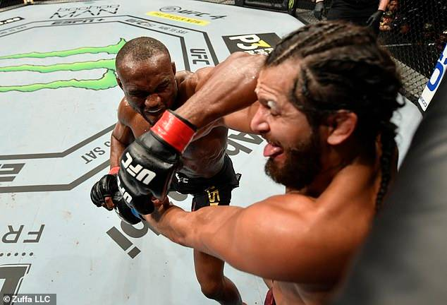 Nigerian UFC Star, Kamaru Usman Retains Welterweight Title After Beating Jorge Masvidal (Photos)