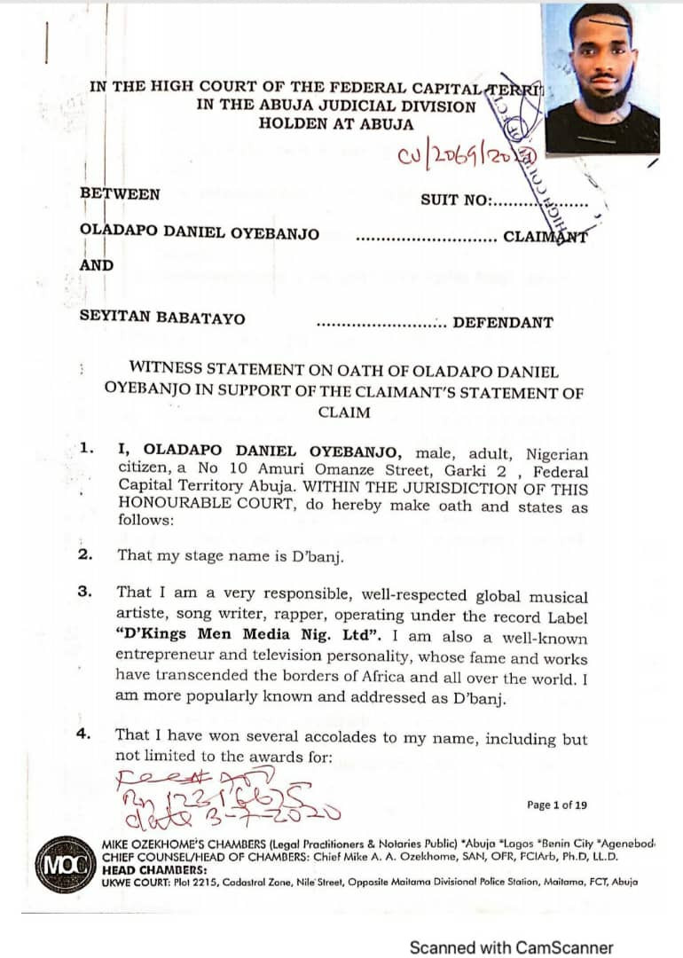 D'banj Sues His Rape Accuser, Seyitan Babatayo For N1.5 Billion
