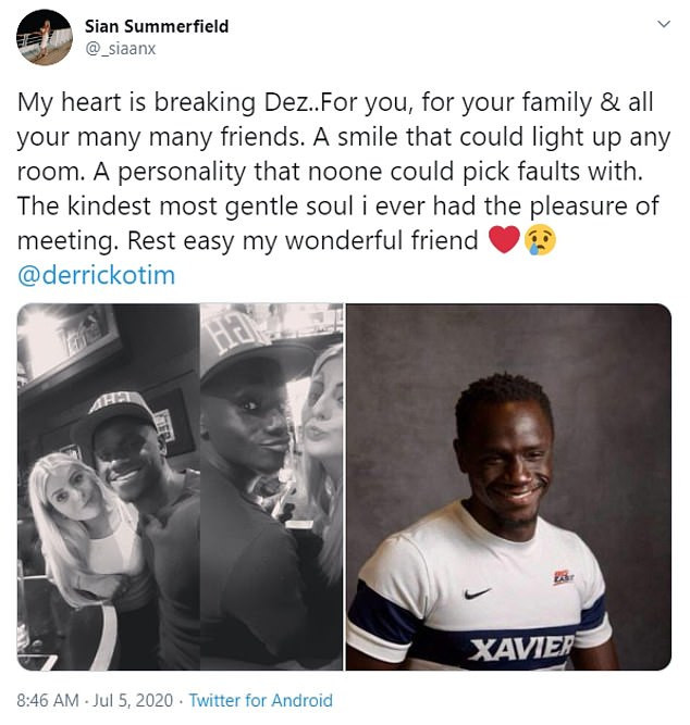 English-Born Ghanaian Footballer, Derrick Otim Dead After Drowning In A Lake In The US