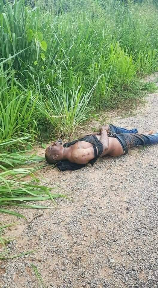 Man's Dead Body Seen In A Bush With His Legs And Hands Tied (Graphic Photos)