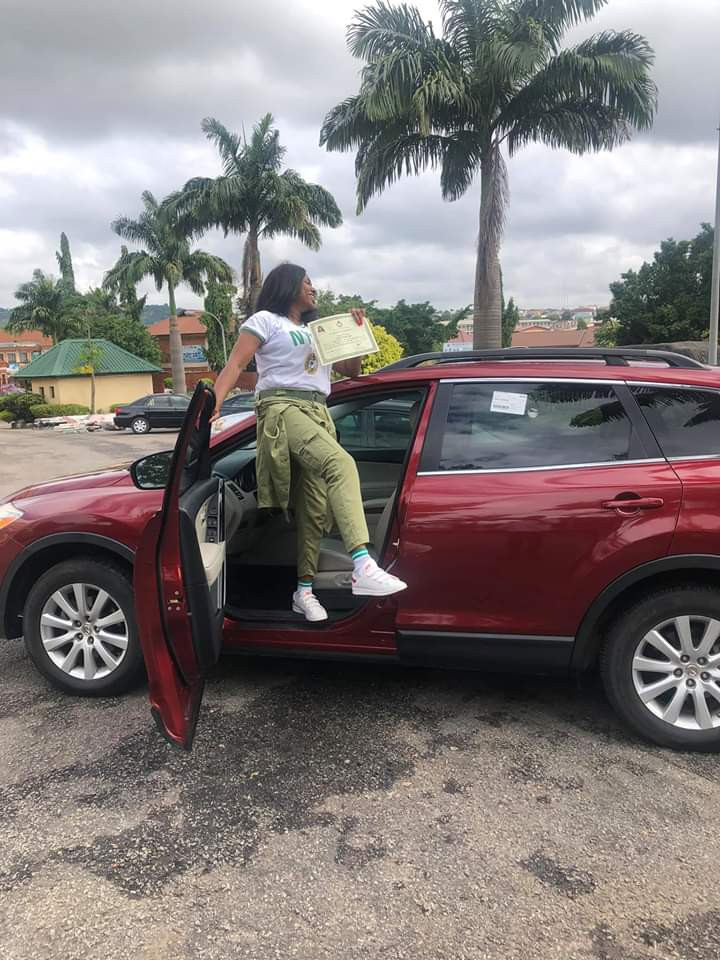 Fish Seller Gifts Herself A Car To Celebrate Completing NYSC (Photos)