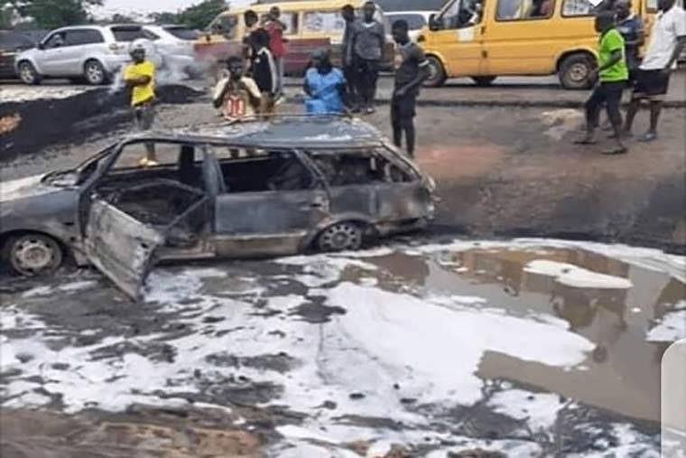 Petrol Tanker Explodes In Delta, Seven People Burnt To Death (Photos)