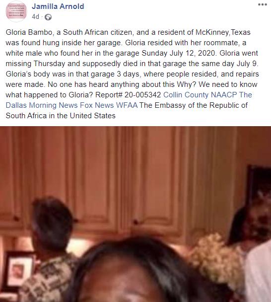 Black Lady's Body Found Hanging In Her White Boyfriend's Garage 5