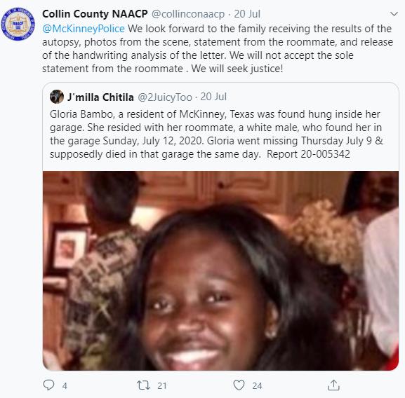Black Lady's Body Found Hanging In Her White Boyfriend's Garage 6