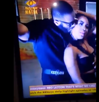 #BBNaija: See Moment Erica Stopped Kiddwaya From Taking Control Of Her Boobs (Video)
