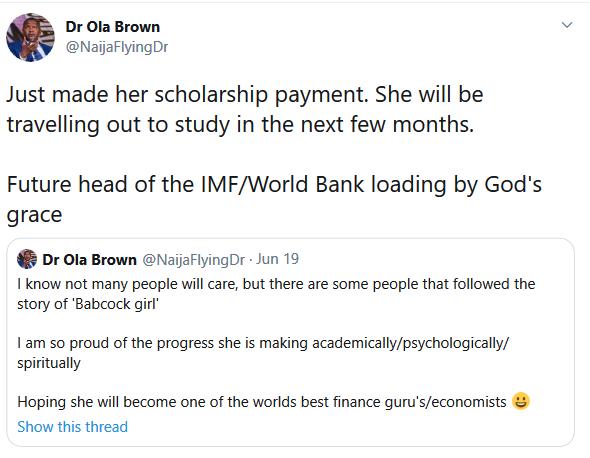 Girl In Babcock S3xTape Gets International Scholarship