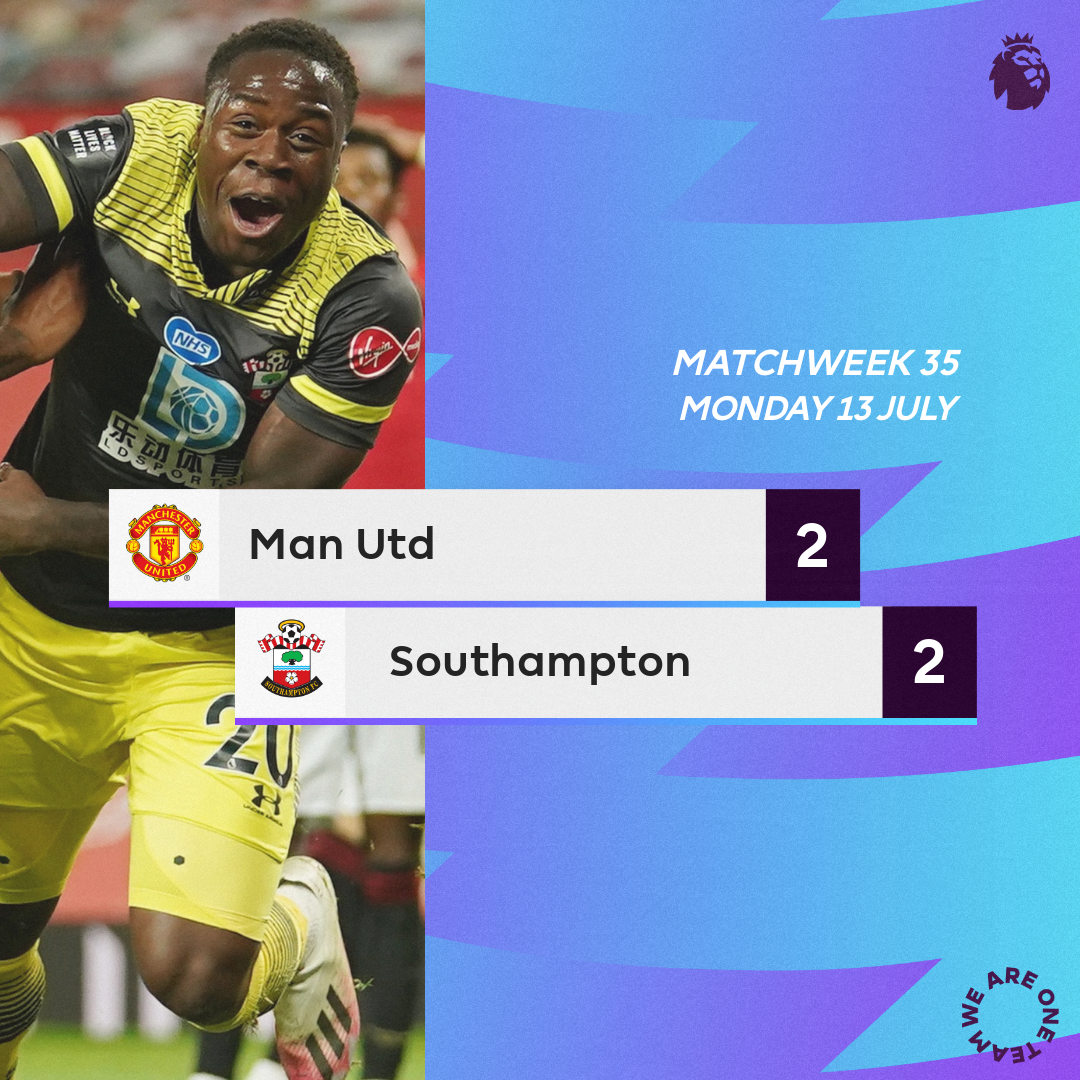 VIDEO: Man United 2 – 2 Southampton - Premier League Highlight