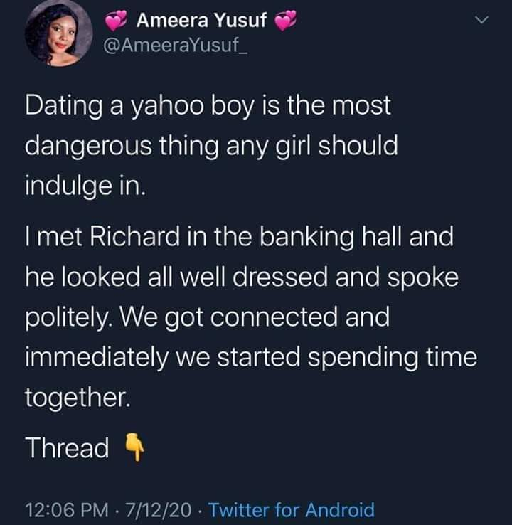 Dating A Yahoo Boy Is Very Dangerous – Nigerian Lady Narrates Her Story With Her Yahoo Boo