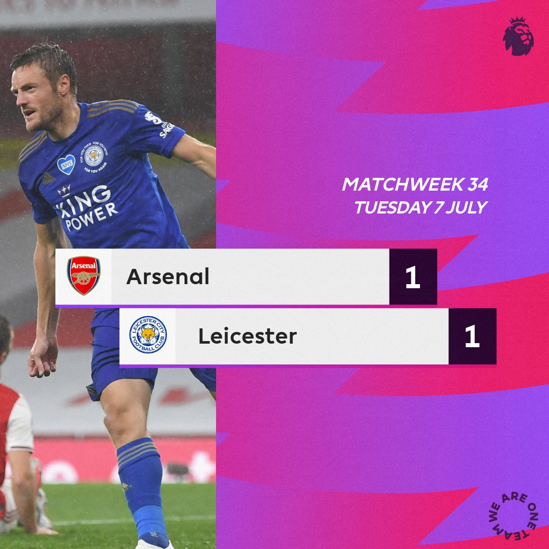 Arsenal 1 – 1 Leicester City