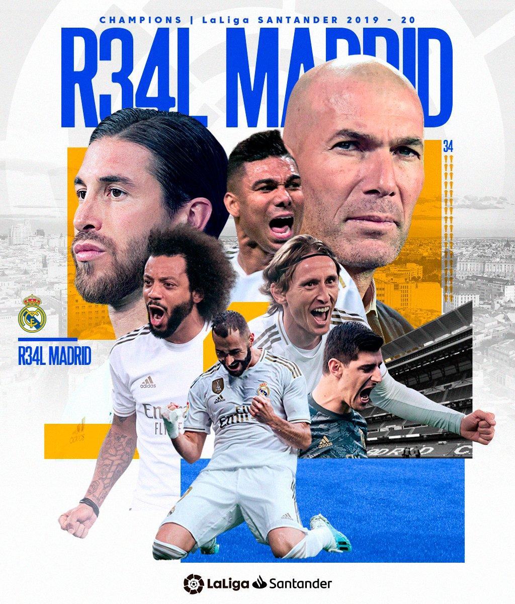 Real Madrid Wins 2019/20 La Liga Title