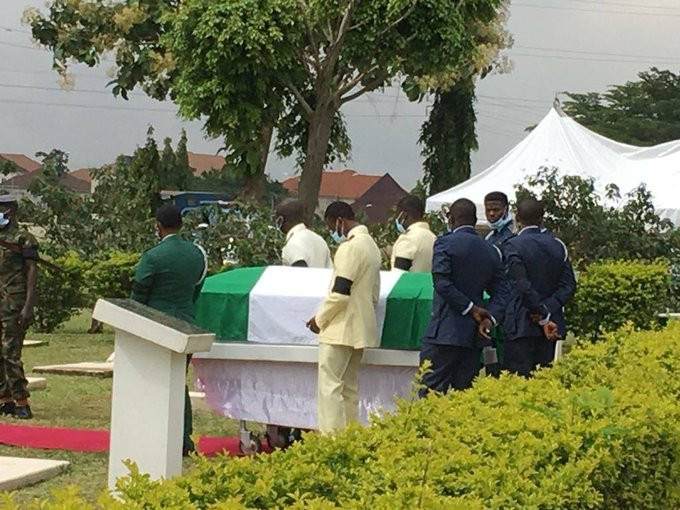 Photos From The Burial Of Nigeria's First Female Fighter Pilot
