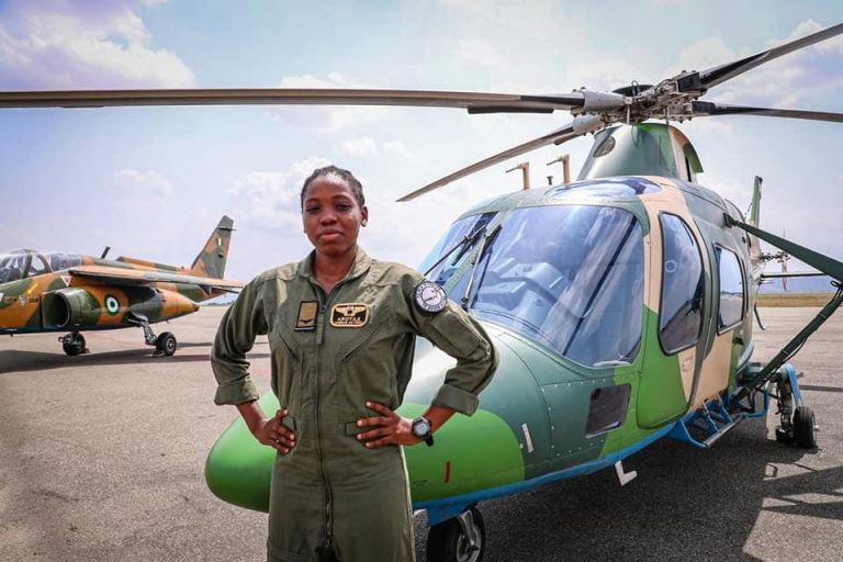Nigerian Air Force's First Female Combatant Helicopter Pilot Dies In Accident