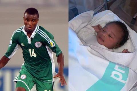 Super Eagles Player, Chidi Nwakali Welcomes Baby Girl
