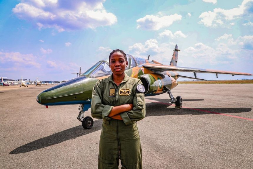 Tolulope Arotile Saluted By Her Colleagues At The Airforce Base Before Burial