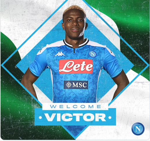 Victor Osimhen Becomes Nigeria's Most Expensive Player After Joining Napoli For €50m