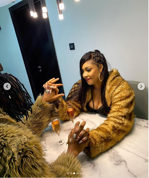 Angela Okorie Shares New Lovely Photos With Her Fiance