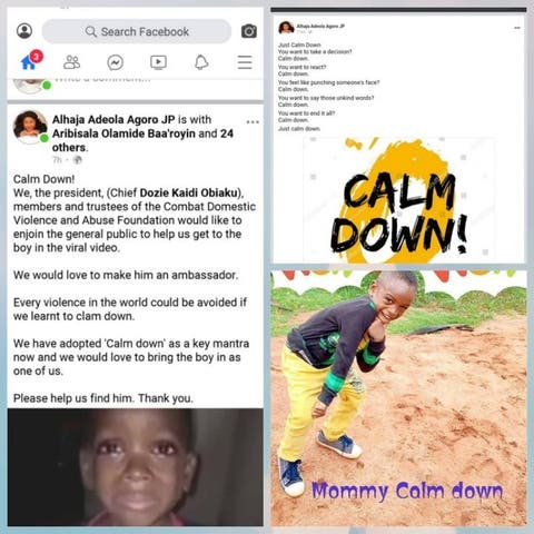 Little Boy In 'Mummy Calm Down' Video Bags Ambassadorial Deal With Combat Domestic Violence and Abuse Foundation