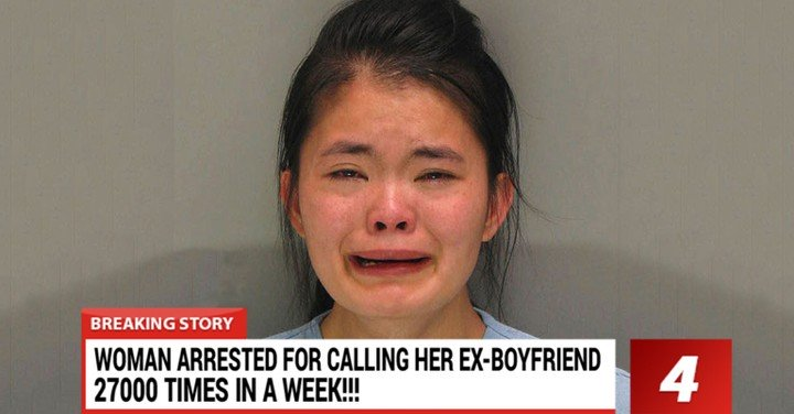 Girl Arrested For Calling Ex-Boyfriend More Over 27,000 Times After Break Up
