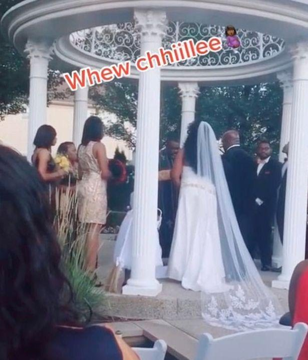 Woman Arrives Wedding Venue To Announce That She's Pregnant For The Groom (Video)