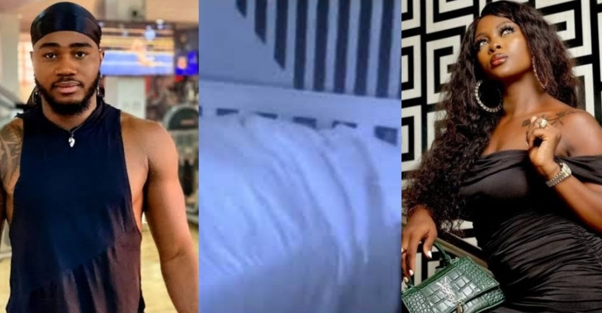 #BBNaija Housemates Praise and Ka3na Caught Having S3x (18+ Videos)
