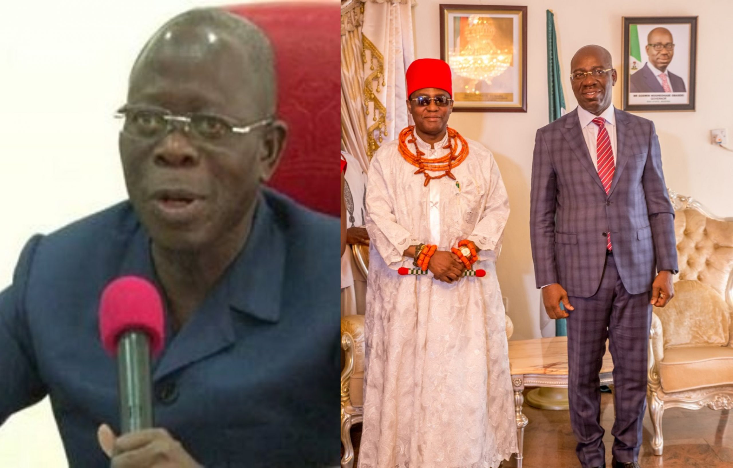Obaseki Doesn't Respect Oba of Benin - Oshiomhole
