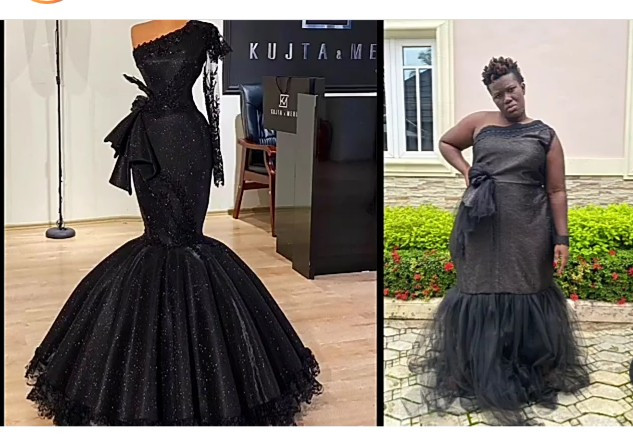 Lol! Warri Pikin Shows Off What She Ordered & What Her Tailor Delivered (Photos)