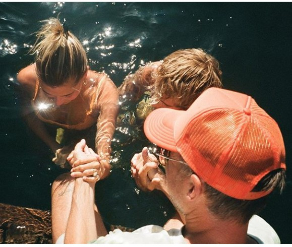 Justin Bieber And Hailey Baldwin Bieber Gets Baptised Together (Photos)