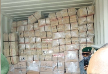 Policemen Intercept 40-Feet Container Of Codeine And Tramadol In Lagos (Photos)
