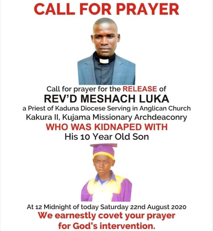 Anglican Priest And His 10-Year-Old Son Kidnapped In Kaduna