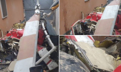 Two People Feared Dead As Helicopter Crashes Into Building In Lagos (Photos) 11