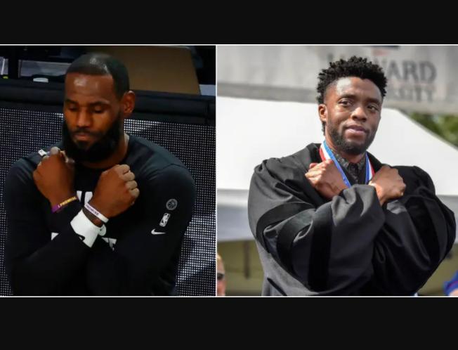 Wakanda Forever! LeBron James Pays Tribute To Chadwick Boseman Before LA Lakers Playoff Game (Photos)