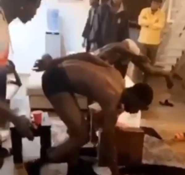Yahoo Boys Catches And Punishes Other Yahoo Boys Who Scammed Them (Video)