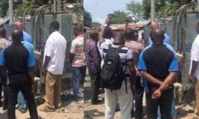 Ikota Residents Seen Praying Over Their Faulty Transformer (Video)
