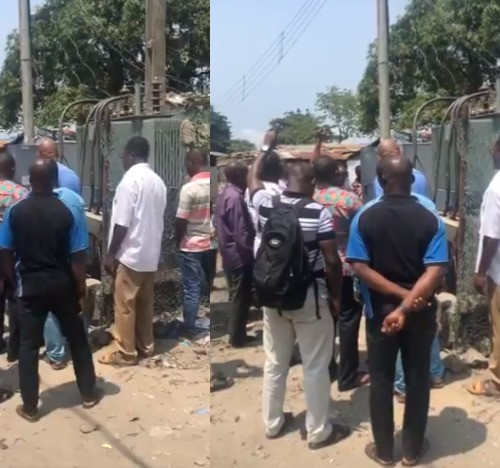 Ikota Residents Seen Praying Over Their Faulty Transformer (Video)