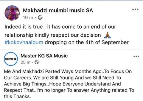 Master KG And His Girlfriend, Makhadzi Part Ways 3