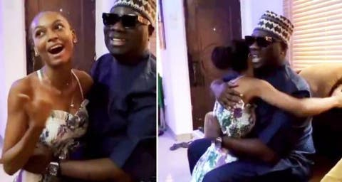 Mompha Visits Adeherself At Home (Video)