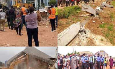 Enugu State Govt Bulldozes Man's House For Pulling Down Airport Fence