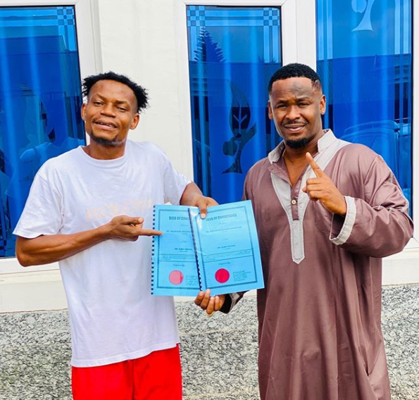 Actor, Zubby Michael Buys Plot Of Land For His PA (Photo)