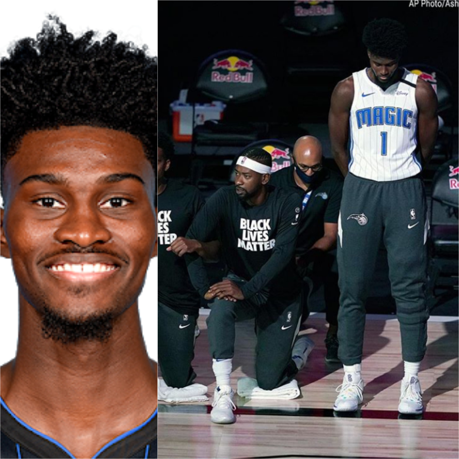 Basketballer Jonathan Isaac Becomes First NBA Player To Refuse Kneeling Down And Wearing 'Black Lives Matter' Shirt During National Anthem (Photos/Video)