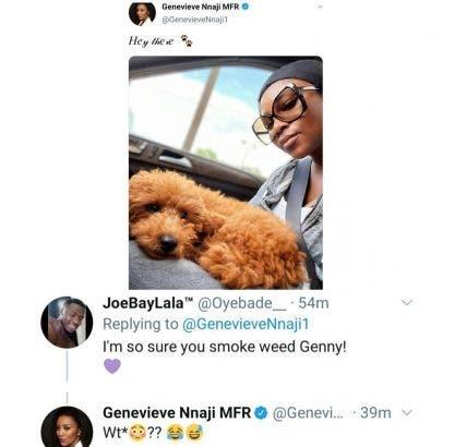 Genevieve Nnaji Reacts As Fan Calls Her A Weed Smoker