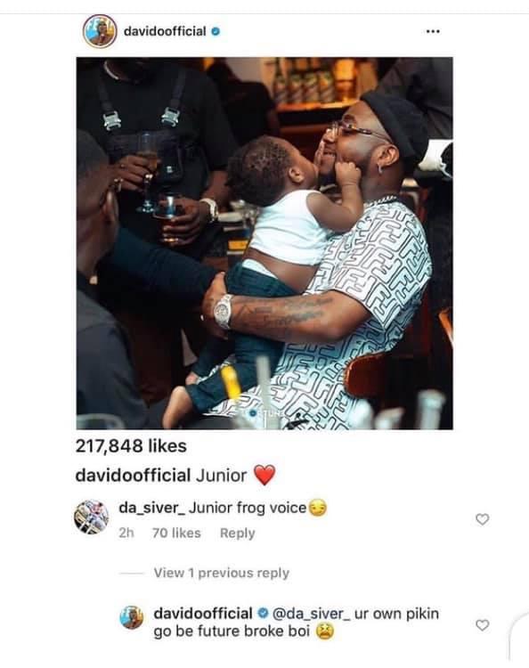 """Davido Slams Man Who Called His Son """"Junior Frog Voice"""""""