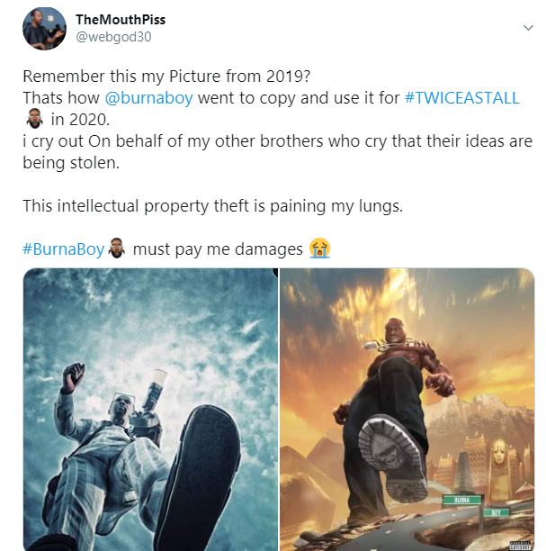Burna Boy Accused Of Intellectual Property Theft In His 'Twice as Tall' Album