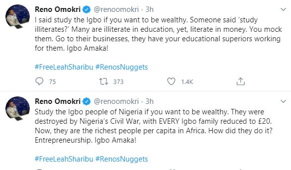Study Igbo People Of Nigeria If You Want To Be Wealthy - Reno Omokri