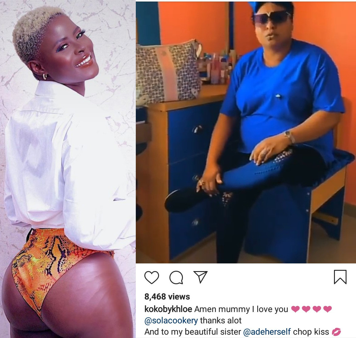 BBNaija's Khloe Admits She Had Butt Enlargement Surgery; Thanks Adeherself's Mum For Support (Video)
