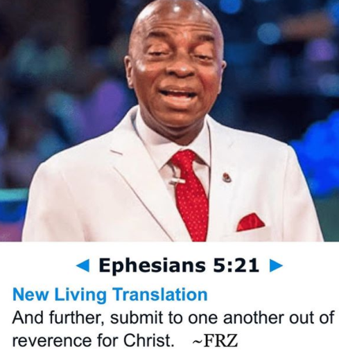 Submission Is Not Reserved For Women Alone, It Goes Both Ways - Daddy Feeeze Replies Bishop Oyedepo