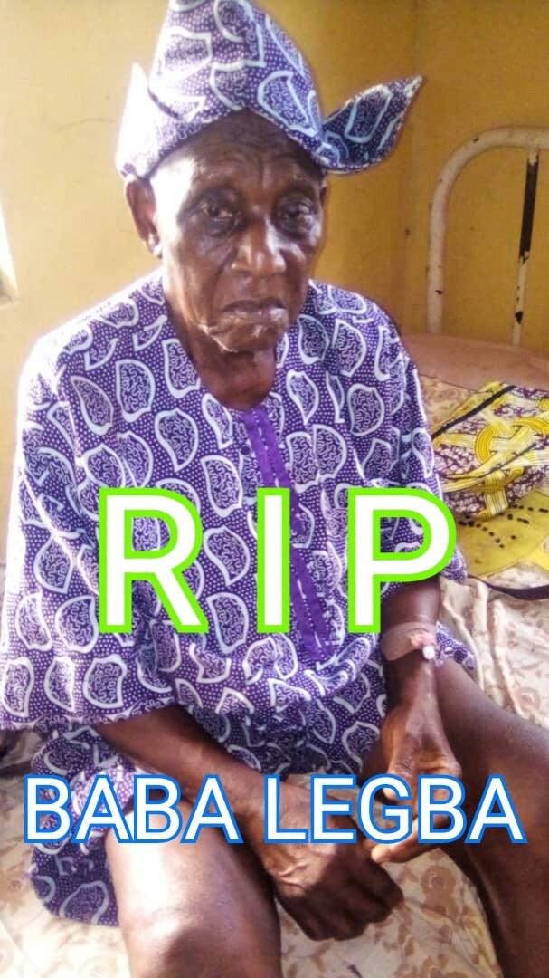actor, Yekini Oyedele 'Baba Legba' is dead